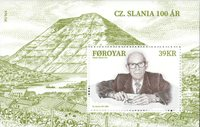 Færøerne - Cz. Slania 100 år - Postfrisk miniark