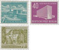 Berlin 1954 - MICHEL 121-123 - Mint