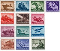 Duitse Rijk 1944 - Michel 873-885 - Postfris