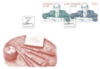 Denmark - Centenary Cz. Slania - FDC with 2 stamps on sale from 16.09.2021