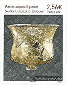 Fransk Andorra - Santa Eulalia - Postfrisk frimærke