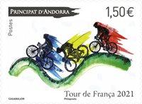Fransk Andorra - Tour de France - Postfrisk frimærke