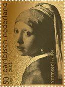 Saba - Pige med perleørering af Vermeer - Ægte 24 karat guld 99,9%, indkapslet og i skrin