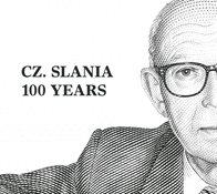 Cz. Slania 100 år - Centralt dagstemplet - Souvenirmappe
