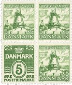 Danmark - AFA 234+236 postfrisk 4-blok fra hæfte