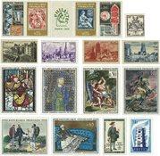 Frankrig - 17 postfriske frimærker og 1 vignet
