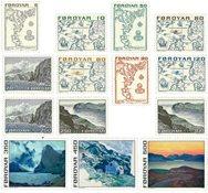 Færøerne - AFA 1-14 - Postfrisk sæt