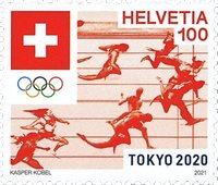 Schweiz - Olympiske lege Tokyo 2020 - Postfrisk frimærke