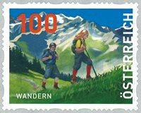 Østrig - Wandern - Postfrisk rullefrimærke