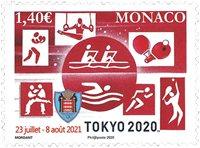 Monaco - Olympiske lege Tokyo 2020 - Postfrisk frimærke