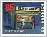 Østrig - Würstelstand - Postfrisk rullefrimærke