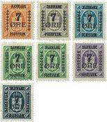 Danmark 1926 - AFA 160-166 - Postfrisk