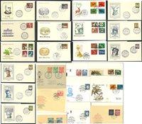 Berlin 1952-1969 - Samling af førstedagskuverter i  2 album