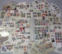 Monaco - Samling af førstedagskuverter, frimærker og blokke