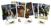 Sverige - Hestesport - Flot sæt maxikort