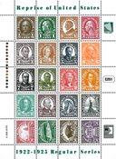Marshall Øerne -  Frimærker fra 1922-25 - Postfrisk ark