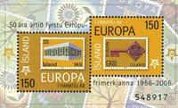 Island - 50-året for EUROPA CEPT - Postfrisk miniark
