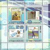 Sao Tome & Principe 2008 - Olympiske lege VII - Postfrisk miniark