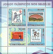 Sao Tome & Principe 2008 - Olympiske lege III - Postfrisk miniark