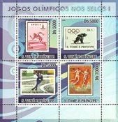 Sao Tome & Principe 2008 - Olympiske lege I - Postfrisk miniark