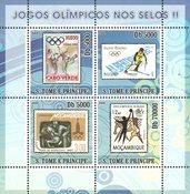 Sao Tome & Principe 2008 - Olympiske lege II - Postfrisk miniark
