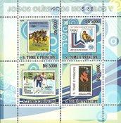 Sao Tome & Principe 2008 - Olympiske lege V - Postfrisk miniark