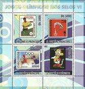 Sao Tome & Principe 2008 - Olympiske lege VI - Postfrisk miniark