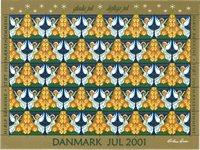 Tanska - Joulumerkkiarkki 2001