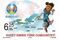 Cypern tyrkisk - UEFA Euro 2020 - Postfrisk frimærke