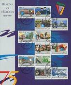 Irland - 75 år Republik - Stemplet ark