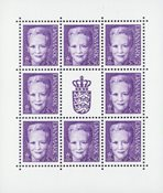 Danmark 2001 - AFA SA2 - Postfrisk ark
