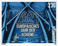 Østrig - Jernbanespor - Postfrisk frimærke