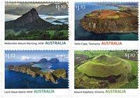 Australien - Vulkaner - Postfrisk sæt 4v