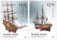 Île Norfolk - Maquettes de bateaux - Série neuve 2v