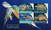 Christmas Islands - Sea turtles - Mint souvenir sheet