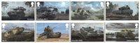 Grande-Bretagne - Les véhicules de l'armée - Série neuve 8v