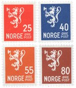 Norge 1946 - AFA 333/336 - Postfrisk