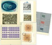 Israël 1964-1993 - Collectie van souvenirvelletjes  in 1 voordrukalbum