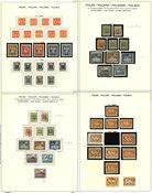 Polen 1819-1980 - Collectie op 19 voordrukbladen
