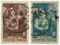 Frankrig 1938 - YT 386/87 - Stemplet