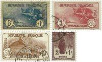Frankrig 1926 - YT 229-32 - Stemplet