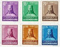 Luxemborg 1935 - Ubrugt - MICHEL 284-89