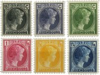 Luxembourg - Grand Duchess Charlotte, 1930 - Stemplet (MICHEL 221-226)