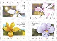 Namibia - flores - Serie 4v. nuevo
