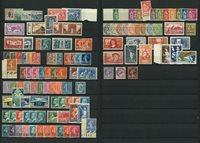 Frankrig - Samling af frimærker i indstikskort