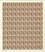 Danmark - Foldet helark AFA 327 - Postfrisk