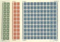 Danmark - Foldet helark sæt AFA 154-156 - Postfrisk