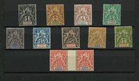 Franske kolonier - Congo samling i indstikskort - Ubrugt