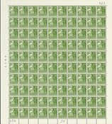 Danmark 1940 - Helark AFA 257 + 257x i position 55  - Postfrisk