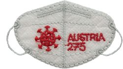 Austria - Embroidered COVID-19 mask - Mint stamp